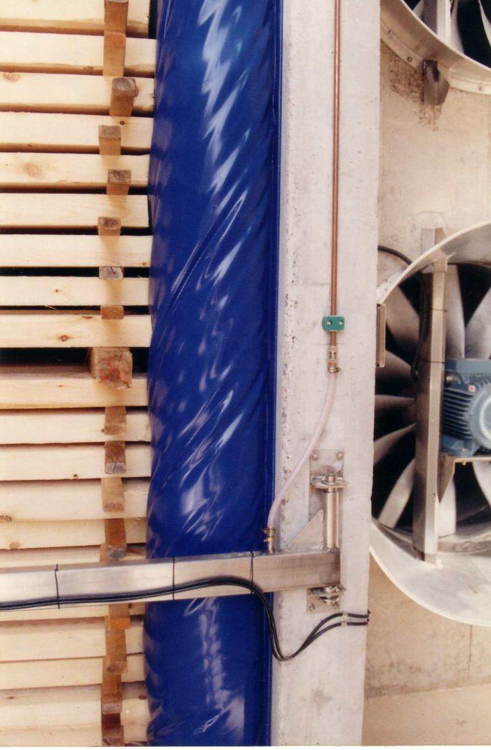 Uppblåst tätning på Notnäs sågverk i Torsby
