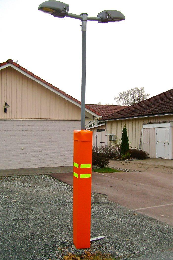 Stötdämpande stolpskydd